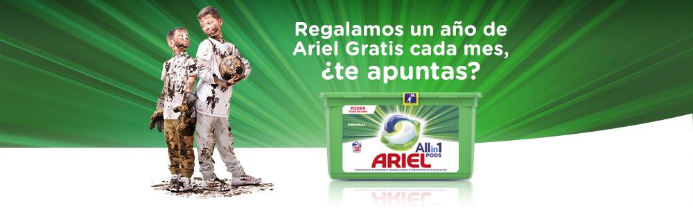 1 Año de productos Ariel GRATIS